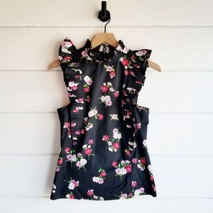 Express Floral Ruffle Tank